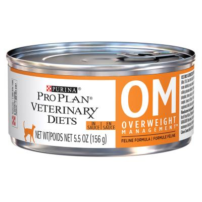 Pro Plan Veterinary Diet Feline OM Overweight Management Canned Wet Cat Food 156gm x 24