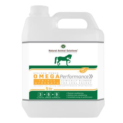 Natural Animal Solutions Omega Performance 3 6 9 Oil Supplement For Dogs And Horses 5L