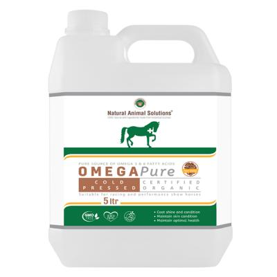 Natural Animal Solutions (NAS) Omega Pure 3 6 Oil Supplement For Dogs And Horses 5L