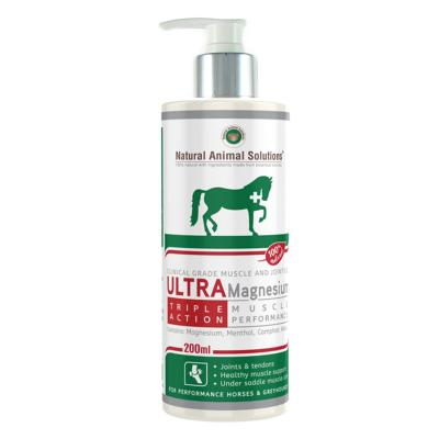 Natural Animal Solutions (NAS) Ultra Magnesium Gel Muscle And Joint Care For Horses And Greyhounds 200ml