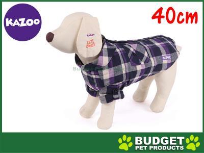 Kazoo Flano Shirt Dog Coat Purple Small 40cm