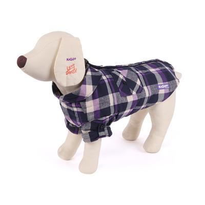Kazoo Flano Shirt Dog Coat Purple Intermediate 53cm