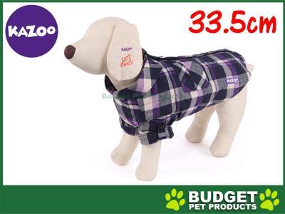 Kazoo Flano Shirt Dog Coat Purple XSmall 33.5cm