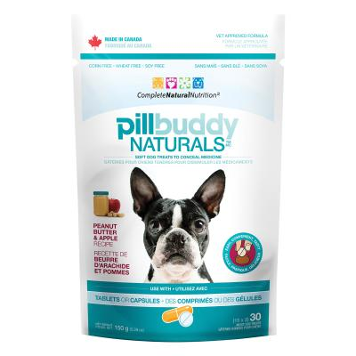 Pill Buddy Peanut Butter And Apple Tablet Capsule Pocket Hide Treats For Dogs 150gm
