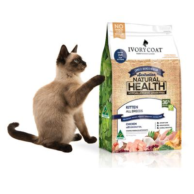 Ivory Coat Natural Health Grain Free Chicken Kitten Dry Cat Food 3kg