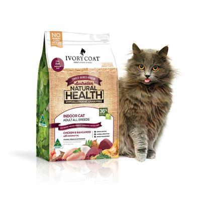 Ivory Coat Natural Health Grain Free Chicken Kangaroo Coconut Oil Indoor Adult Dry Cat Food 3kg