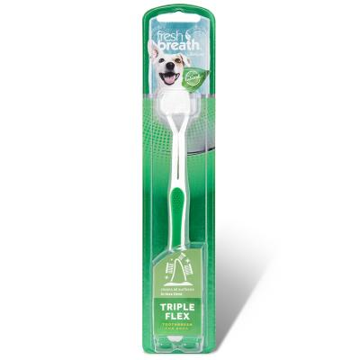 Tropiclean Fresh Breath Triple Flex Tooth Brush Small For Dogs