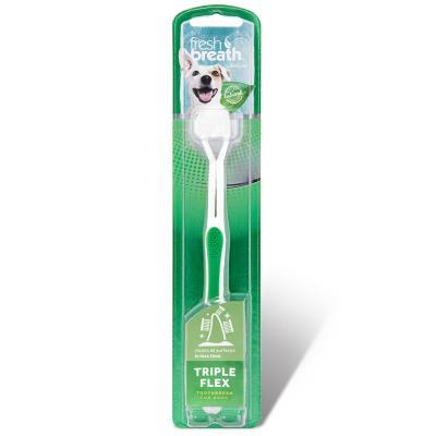 Tropiclean Fresh Breath Triple Flex Tooth Brush Small For Dogs