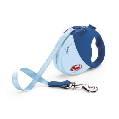 Flexi Retractable Tape Lead Design Funtime Mini XSmall Blue 3m For Dogs