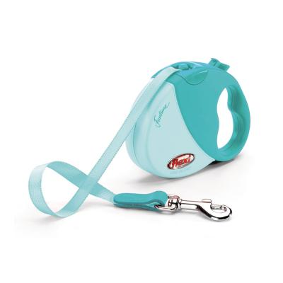 Flexi Retractable Tape Lead Design Funtime Mini XSmall Turquoise 3m For Dogs
