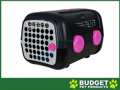AUTO  Pet Transport Carrier Crate Pink Grey For Small Dogs Cats Animals