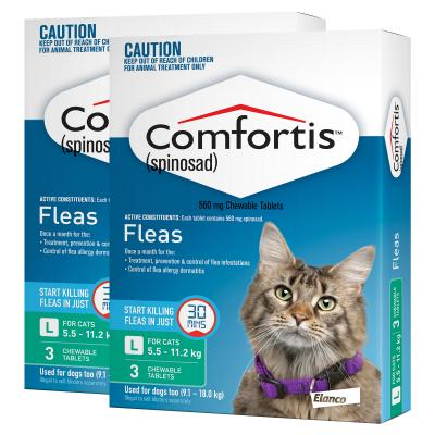 Comfortis For Cats 5.5-11.2kg Green 6 Tablets