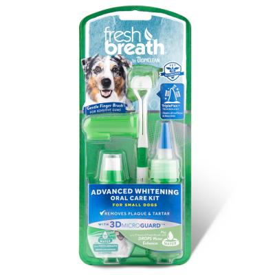 Tropiclean Fresh Breath Advanced Whitening Oral Care Kit For Dogs