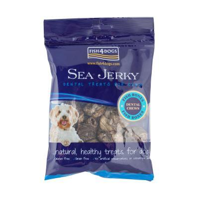 Fish4Dogs Sea Jerky Bones Fish Treats For Dogs 100g