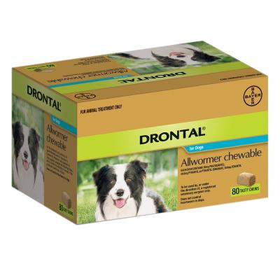 Drontal Allwormer For Dogs Medium 3-10kg 80 Chews
