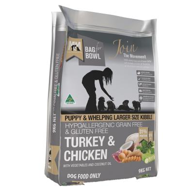 Meals For Mutts MfM Grain Free Turkey And Chicken Large Kibble For Puppy And Whelping Dry Dog Food 9kg