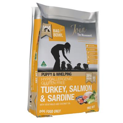 Meals For Mutts MfM Turkey Salmon Sardine Puppy And Whelping Dry Dog Food 9kg