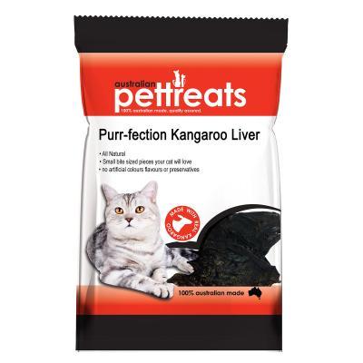 Australian Pettreats Purr-fection Kangaroo Liver Treats For Cats 60gm