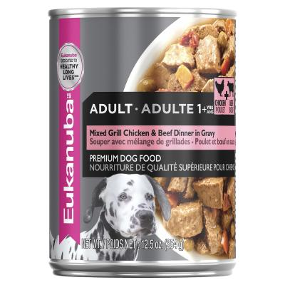 Eukanuba Chicken And Beef In Gravy Adult Canned Wet Dog Food 355gm x 12