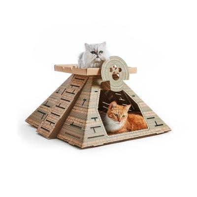 Landmarks Cat Play House System Maya Temple Scratch Toy By Poopy Cat