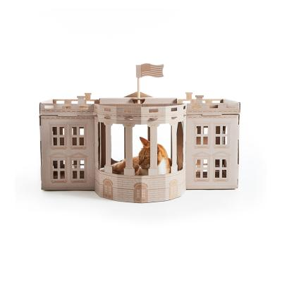 Landmarks Cat Play House System Whitehouse Toy By Poopy Cat