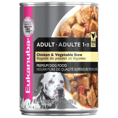 Eukanuba Chicken And Vegetable Stew Adult Canned Wet Dog Food 355gm x 12