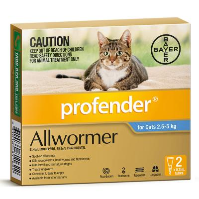 Profender For Cats All Wormer Blue 2.5-5kg x 20