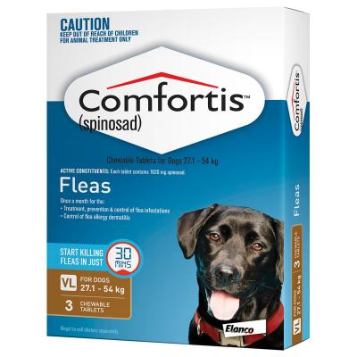 Comfortis For Dogs 27.1-54kg Brown 3 Tablets