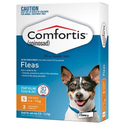 Comfortis For Dogs 4.6-9kg Orange 3 Tablets