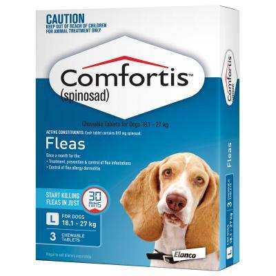 Comfortis For Dogs 18.1-27kg Blue 3 Tablets