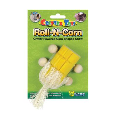Critter Ware Roll N Corn Wooden Chew And Gnaw Small Toy For Rats Mice Guinea Pigs And Rabbits