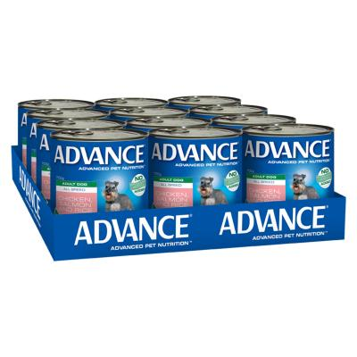 Advance All Breed Chicken Salmon And Rice Adult Canned Wet Dog Food 700g x 12