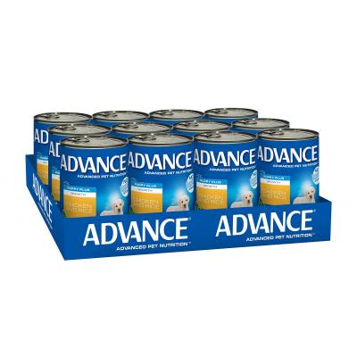Advance Puppy Plus Growth Chicken And Rice Canned Wet Dog Food 410g x 12