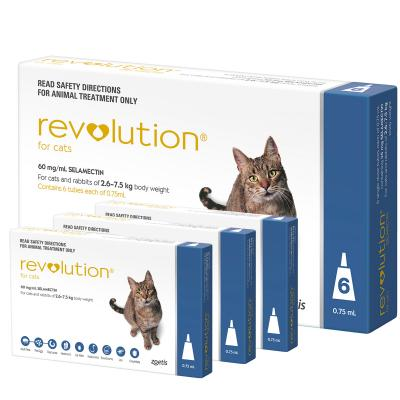 Revolution For Cats 2.6-7.5kg Blue 9 Pack