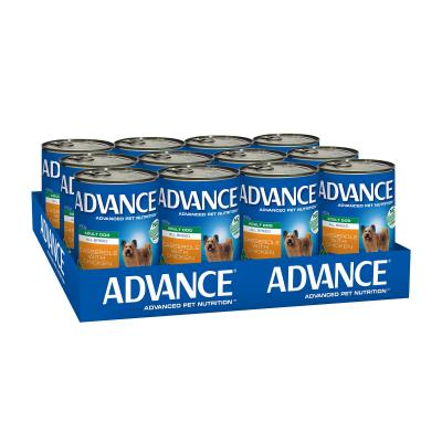 Advance All Breed Chicken Casserole Adult Canned Wet Dog Food 400g x 12