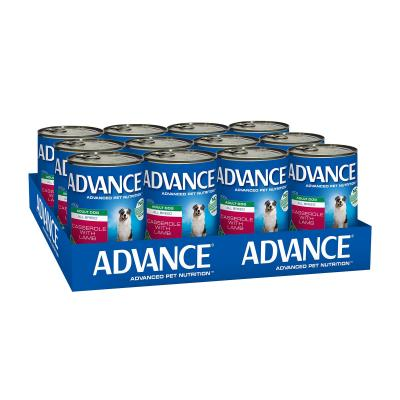 Advance All Breed Lamb Casserole Adult Canned Wet Dog Food 400g x 12