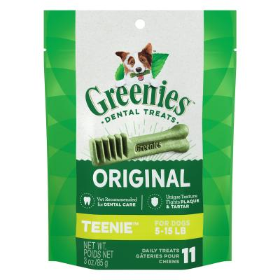 Greenies Dental Treats Original Teenie Trial Pack For Dogs 2 - 7kg (11 Treats In Pack) 85gm