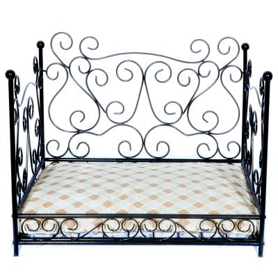 Luv A Pet Luxury Deluxe Wrought Iron Cottage Scroll Style Bed For Dogs And Cats