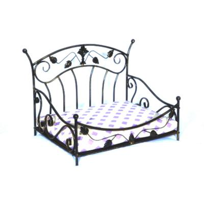 Luv A Pet Luxury Deluxe Wrought Iron Leaf Scroll Style Bed For Dogs And Cats