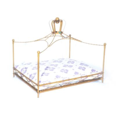 Luv A Pet Luxury Deluxe Wrought Iron Royale Style Bed For Dogs And Cats