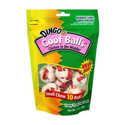 Dingo Rawhide Chicken In The Middle Goof Balls Treats For Dogs 92gm