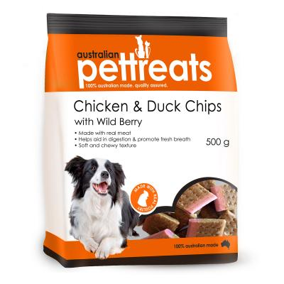 Australian Pettreats Chips Chicken And Duck With Wild Berry Treats For Dogs 500gm