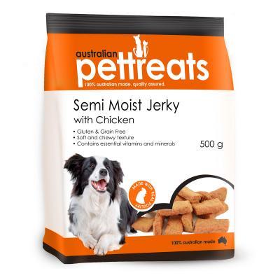Australian Pettreats Semi Moist Jerky With Chicken Treats For Dogs 500gm