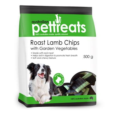 Australian Pettreats Chips Roast Lamb With Garden Vegetable Treats For Dogs 500gm