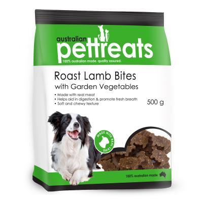 Australian Pettreats Bites Roast Lamb With Garden Vegetables Treats For Dogs 500gm