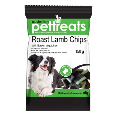Australian Pettreats Chips Roast Lamb With Garden Vegetable Treats For Dogs 150gm