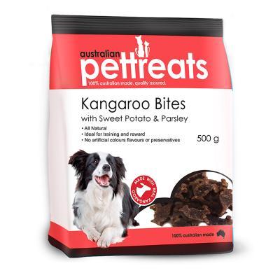 Australian Pettreats Bites Kangaroo With Sweet Potato And Parsley Treats For Dogs 500gm