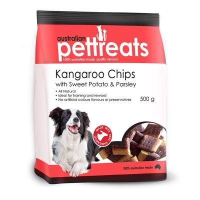 Australian Pettreats Chips Kangaroo With Sweet Potato And Parsley Treat For Dogs 500gm