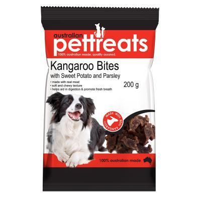 Australian Pettreats Bites Kangaroo With Sweet Potato And Parsley Treats For Dogs 200gm