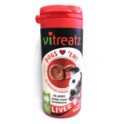 Australian Pettreats Vitreatz Liver Grainfree Treats For Dogs 30pack 45gm